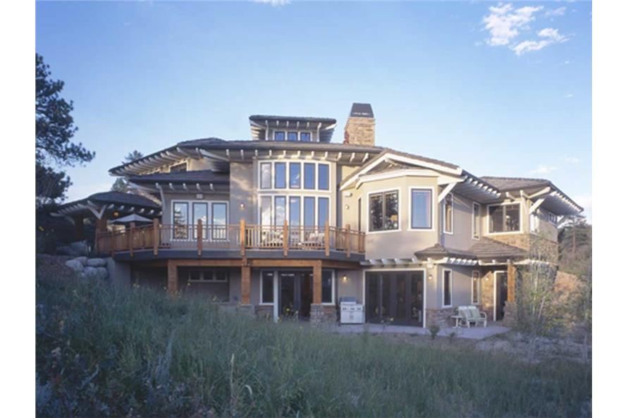 Rear View of this 5-Bedroom,5876 Sq Ft Plan -5876
