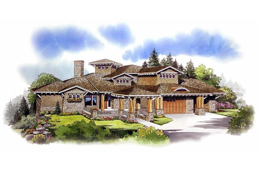 Front View of this 5-Bedroom,5876 Sq Ft Plan -5876