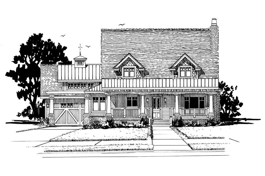 Front View of this 3-Bedroom,1825 Sq Ft Plan -1825