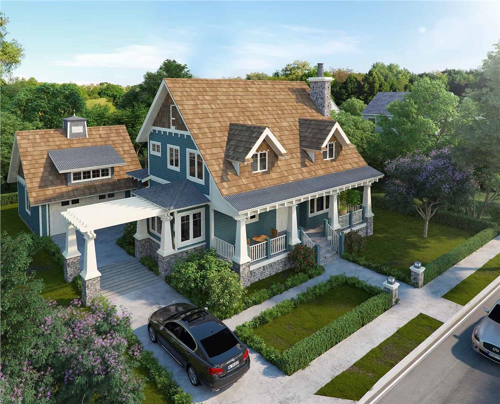Craftsman home (ThePlanCollection: Plan #205-1020)