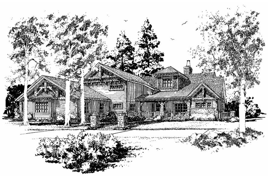 Front View of this 4-Bedroom,4960 Sq Ft Plan -4960