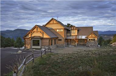 4-Bedroom, 4960 Sq Ft Luxury Mountain House - Plan #205-1021 - Front Exterior