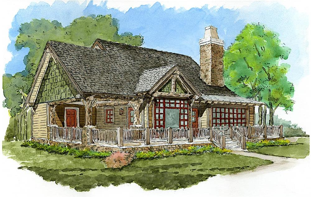 Cottage home (ThePlanCollection: Plan #205-1022)