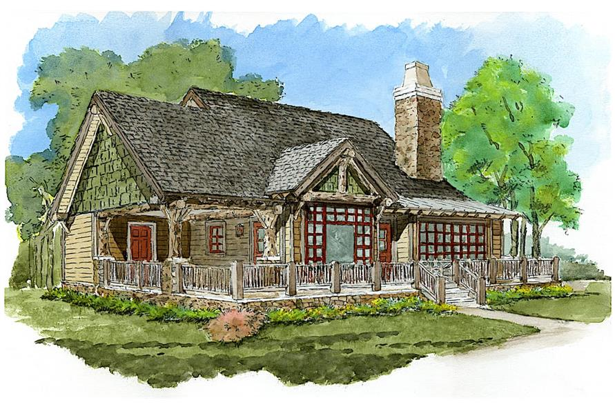 2-Bedroom, 1065 Sq Ft Cottage Home - Plan #205-1022 - Main Exterior