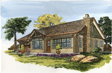 2-Bedroom, 1065 Sq Ft Cottage Home - Plan #205-1023 - Main Exterior