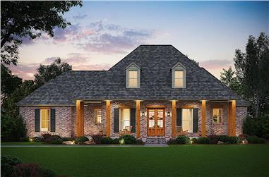 4-Bedroom, 2570 Sq Ft Ranch House - Plan #206-1000 - Front Exterior