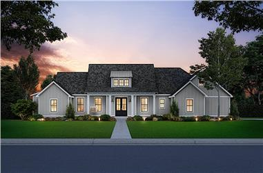 3-Bedroom, 1954 Sq Ft Traditional House - Plan #206-1001 - Front Exterior