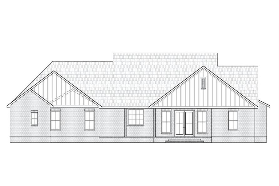 Home Plan Rear Elevation of this 3-Bedroom,2629 Sq Ft Plan -206-1002