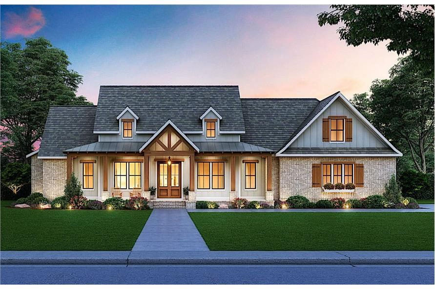 3-Bedroom, 2629 Sq Ft Colonial House - Plan #206-1002 - Front Exterior