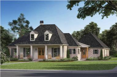 4-Bedroom, 2384 Sq Ft European Home - Plan #206-1003 - Main Exterior