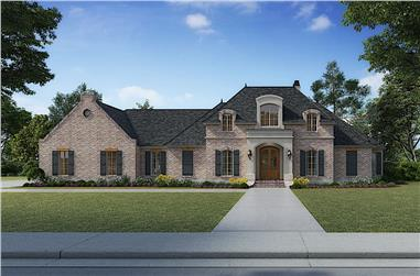4-Bedroom, 4076 Sq Ft European House - Plan #206-1005 - Front Exterior