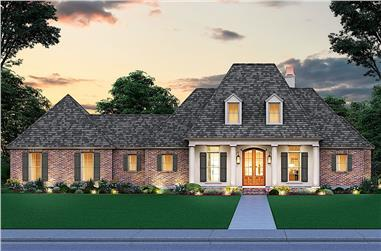 4-Bedroom, 2446 Sq Ft French Style House - Plan #206-1006 - Front Exterior