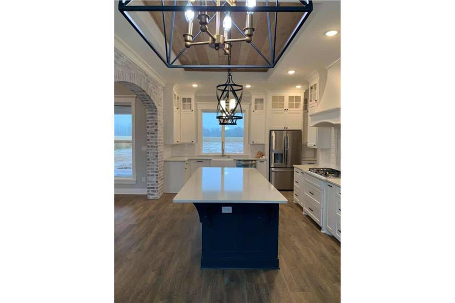 Kitchen: Kitchen Island of this 3-Bedroom,2535 Sq Ft Plan -206-1007