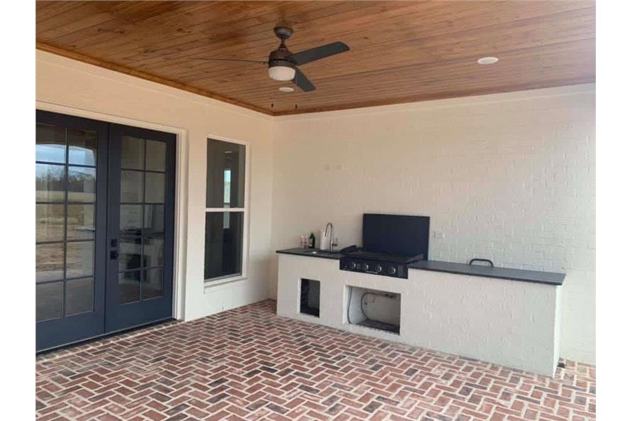 Outdoor Kitchen of this 3-Bedroom,2535 Sq Ft Plan -206-1007