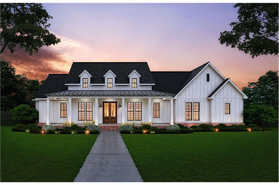 3-Bedroom, 2535 Sq Ft Modern Farmhouse Home - Plan #206-1007 - Main Exterior