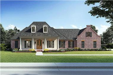 4-Bedroom, 4226 Sq Ft European Style House - Plan #206-1008 - Front Exterior