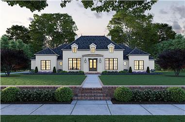 4-Bedroom, 3170 Sq Ft Georgian House - Plan #206-1009 - Front Exterior