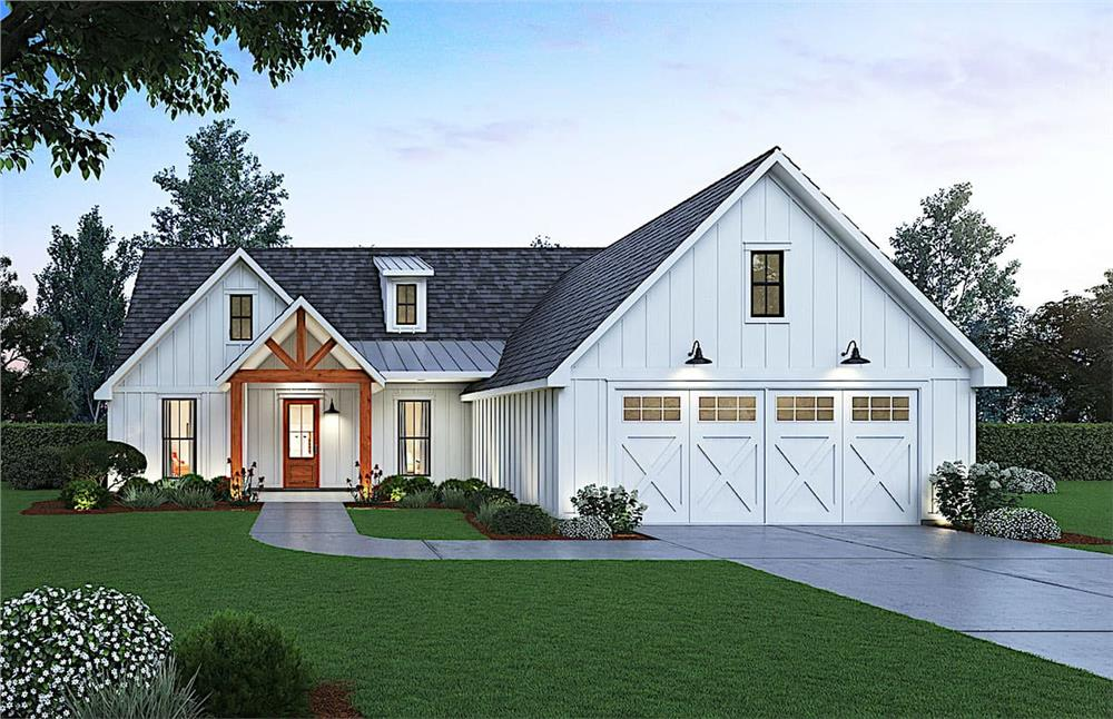 Country Ranch home (ThePlanCollection: Plan #206-1010)