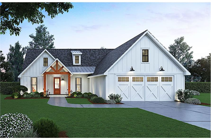 3-Bedroom, 1814 Sq Ft Country House - Plan #206-1010 - Front Exterior
