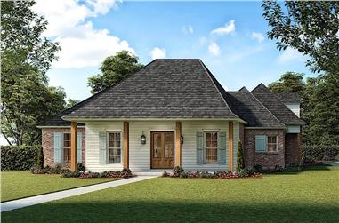 4-Bedroom, 2843 Sq Ft Acadian Home - Plan #206-1011 - Main Exterior
