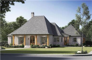4-Bedroom, 2489 Sq Ft Acadian House - Plan #206-1012 - Front Exterior