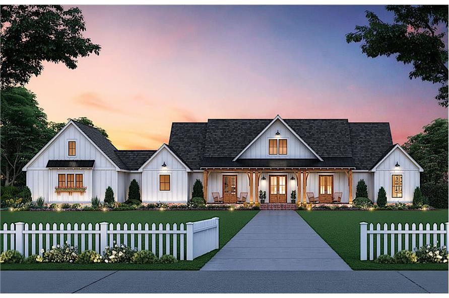 Home Plan Rendering of this 3-Bedroom,2520 Sq Ft Plan -206-1013