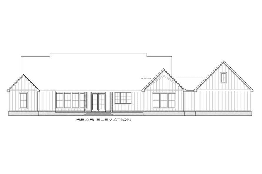 Home Plan Rear Elevation of this 3-Bedroom,2520 Sq Ft Plan -206-1013