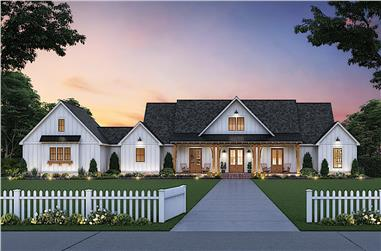 3-Bedroom, 2520 Sq Ft Farmhouse Home - Plan #206-1013 - Front Exterior