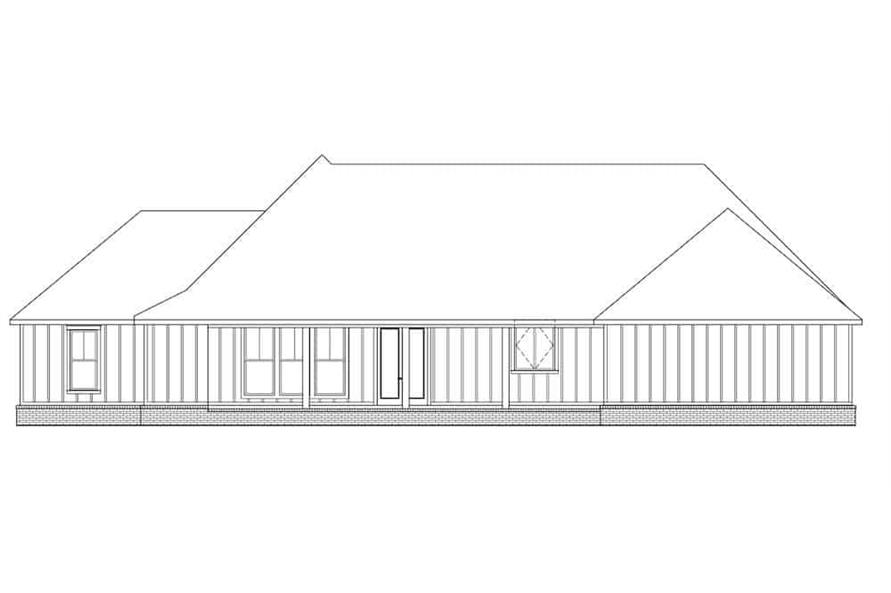 Home Plan Rear Elevation of this 3-Bedroom,1967 Sq Ft Plan -206-1014