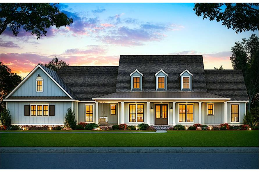 Home Plan Rendering of this 5-Bedroom,2705 Sq Ft Plan -206-1015