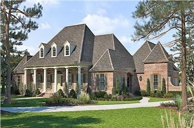4-Bedroom, 4381 Sq Ft Colonial House - Plan #206-1016 - Front Exterior