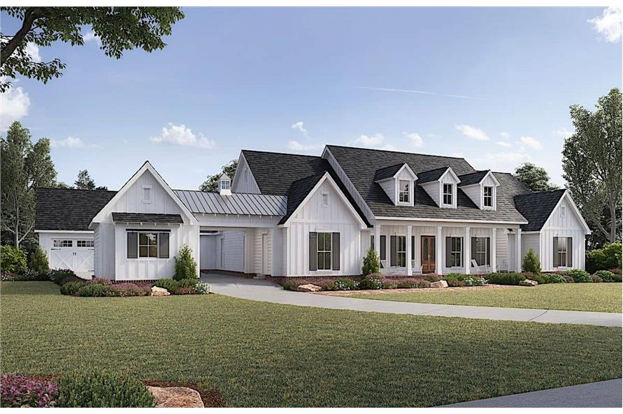 Home Plan Rendering of this 4-Bedroom,3272 Sq Ft Plan -206-1017