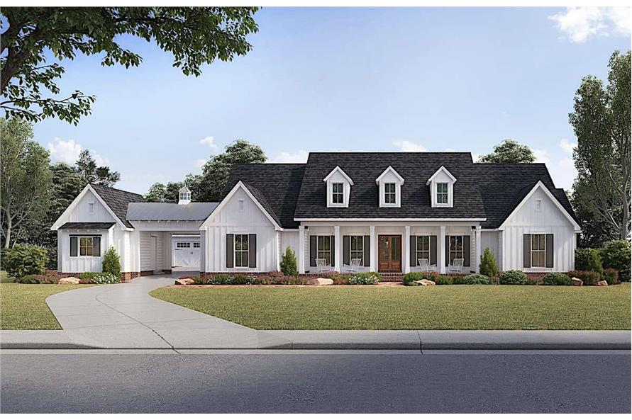 4-Bedroom, 3272 Sq Ft Cape Cod House - Plan #206-1017 - Front Exterior