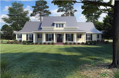 3-Bedroom, 2909 Sq Ft Farmhouse Home - Plan #206-1018 - Front Exterior