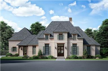 4-Bedroom, 3750 Sq Ft French Style Home - Plan 206-1019 - Main Exterior