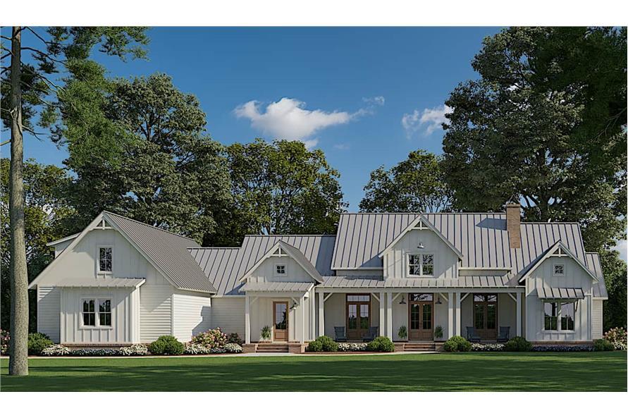 Farmhouse Floor Plan 4 Bedrms 3 5 Baths 3585 Sq Ft