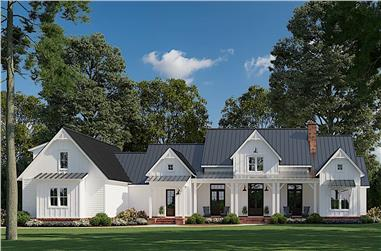 4-Bedroom, 3585 Sq Ft Farmhouse Home - Plan #206-1020 - Front Exterior