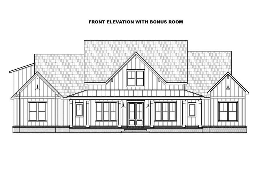 Home Plan Front Elevation of this 4-Bedroom,2400 Sq Ft Plan -206-1023