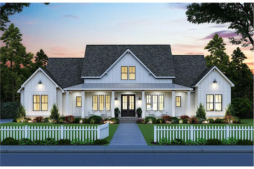 4-Bedroom, 2400 Sq Ft Contemporary Home - Plan #206-1023 - Main Exterior
