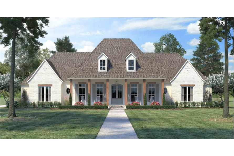 4-Bedroom, 3273 Sq Ft French House - Plan #206-1024 - Front Exterior