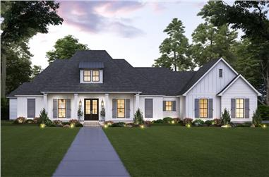 4-Bedroom, 3175 Sq Ft Contemporary House - Plan #206-1025 - Front Exterior