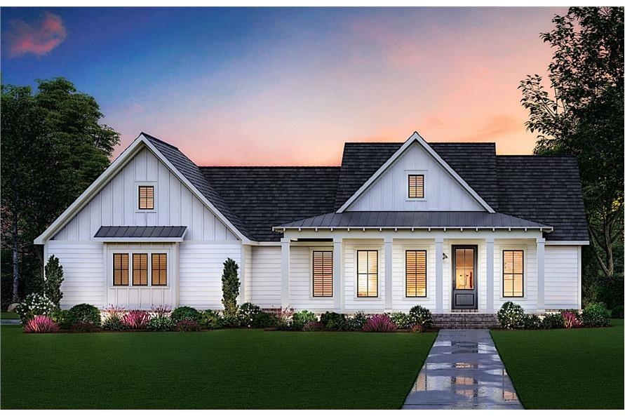 Home at Night of this 3-Bedroom,1777 Sq Ft Plan -206-1026