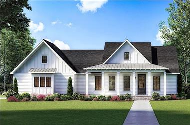 3-Bedroom, 1777 Sq Ft Contemporary House - Plan #206-1026 - Front Exterior
