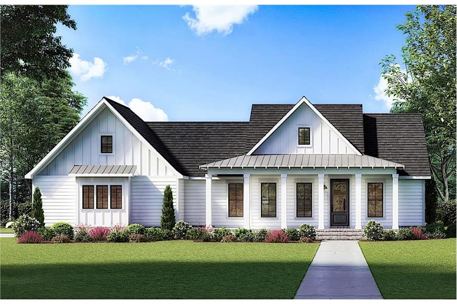 3-Bedroom, 1777 Sq Ft Modern Farmhouse Home - Plan #206-1026 - Main Exterior