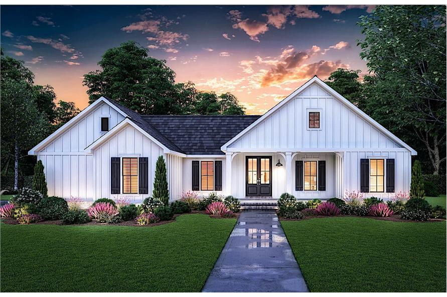 Home at Night of this 3-Bedroom,1474 Sq Ft Plan -206-1027