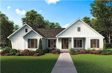 3-Bedroom, 1474 Sq Ft Contemporary House - Plan #206-1027 - Front Exterior