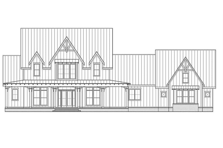 Home Plan Front Elevation of this 4-Bedroom,4103 Sq Ft Plan -206-1028