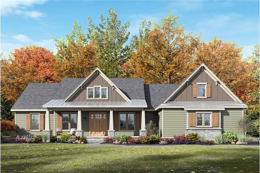 Front View of this 4-Bedroom,2300 Sq Ft Plan -206-1030