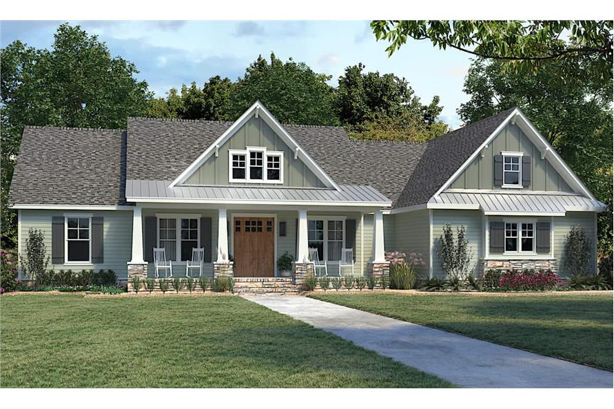 4-Bedroom, 2300 Sq Ft Ranch Home - Plan #206-1030 - Main Exterior