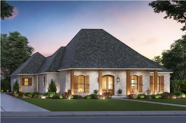 3-Bedroom, 2223 Sq Ft Acadian House - Plan #206-1033 - Front Exterior